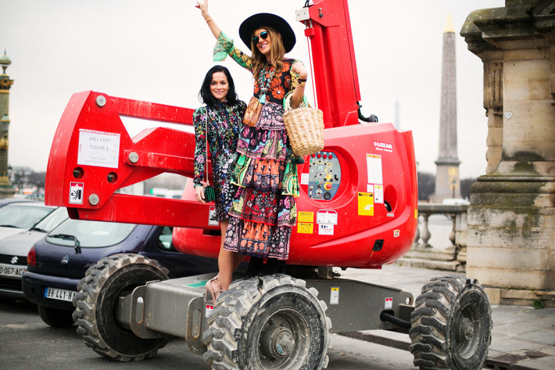 Leigh Leizard and Anna dello Russo