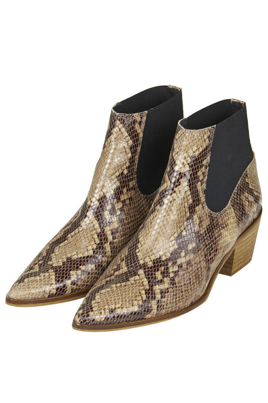 topshop snakeskin boots