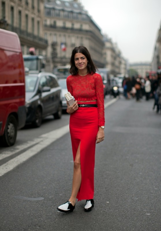 EXCLUSIVE Leandra Medine posing for a street style photo during the Paris Fashion Week. Where: Paris, France When: 30 Nov -0001 Credit: WENN.com