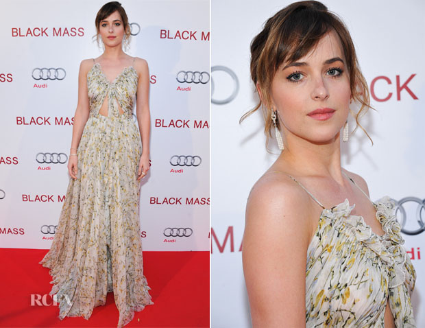 Dakota-Johnson-In-Alexander-McQueen----Black-Mass----Toronto-Film-Festival-Premiere
