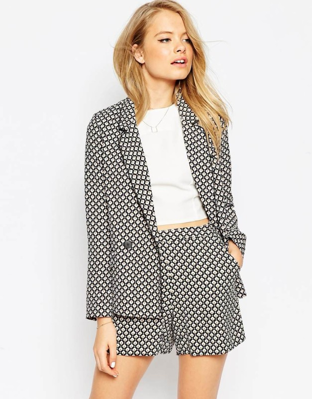 asos in soft 70s tile print co-ord viscosa