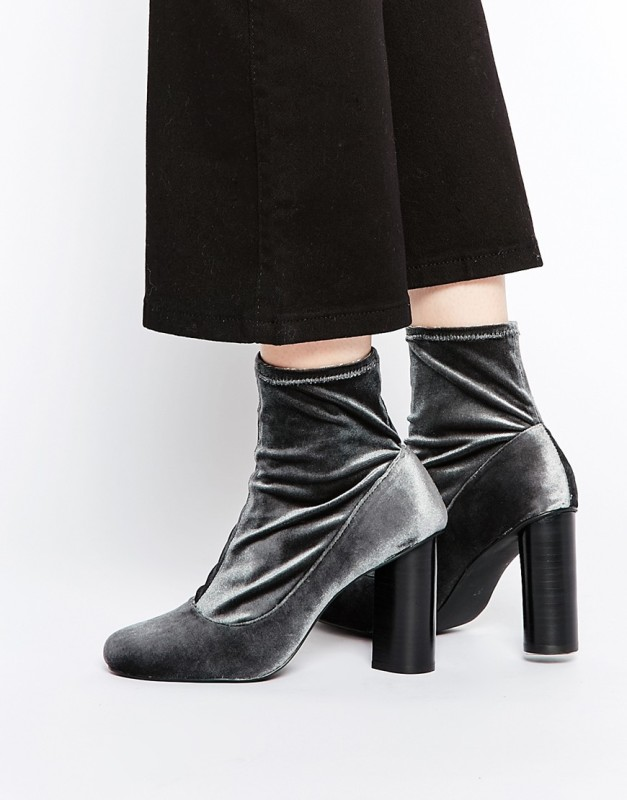 senso sonia velvet stretch heeled ankle boots