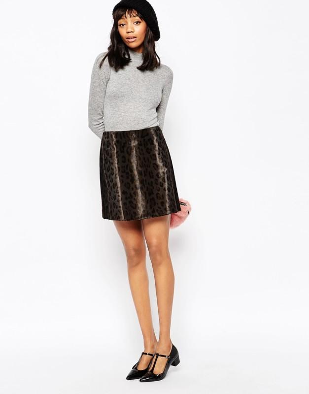sportmax code leopard mini skirt