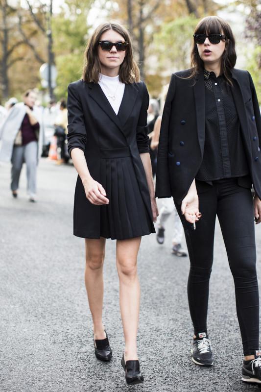 Paris Fashionweek ss2015 day 5, outside Chloé, Julia gall ret