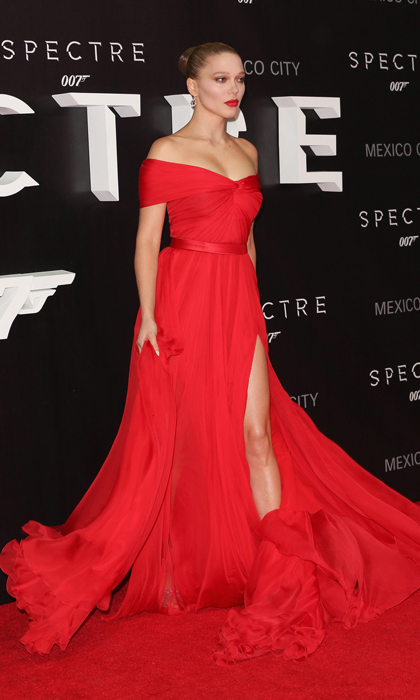 "MEXICO CITY, MEXICO - NOVEMBER 02: Actress Lea Seydoux attends the ""Spectre"" Mexico City premiere at Auditorio Nacional on November 2, 2015 in Mexico City, Mexico. (Photo by Victor Chavez/WireImage)"
