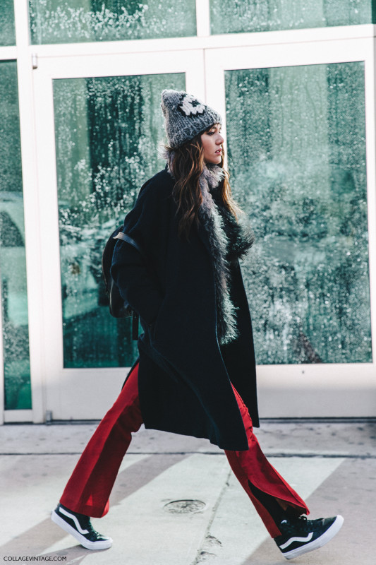 NYFW-New_York_Fashion_Week-Fall_Winter-17-Street_Style-Vans_Beanie-Red_Trousers-