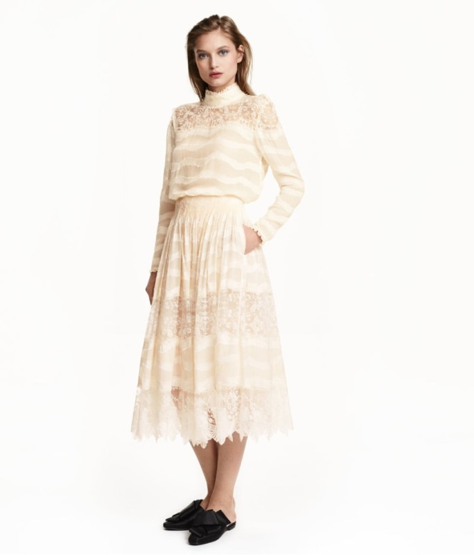 HM-Conscious-Silk-Blend-Skirt-Lace