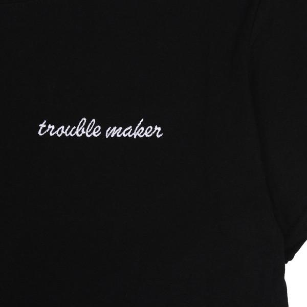 Trouble-Maker-Black-T-Shirt-Close-Up-600x600