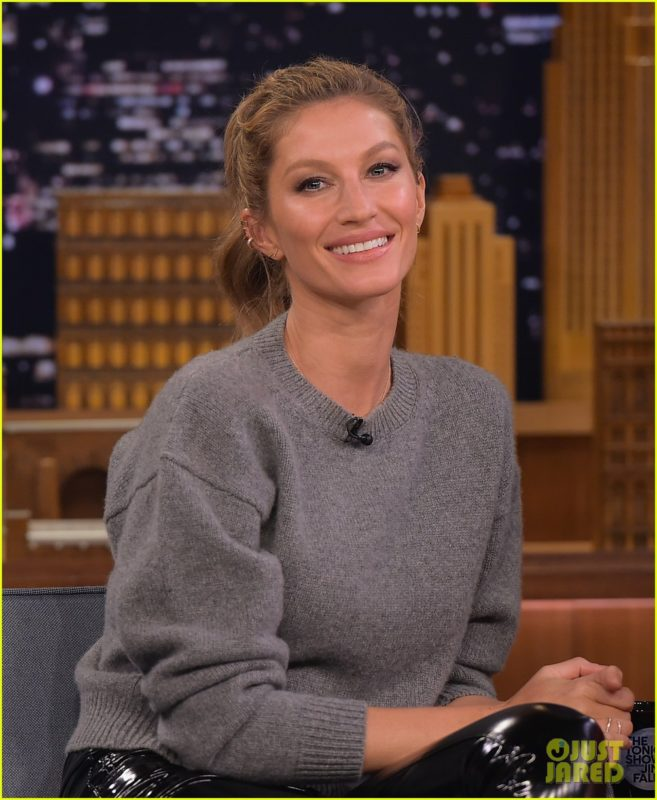 "Gisele Bundchen Visits ""The Tonight Show Starring Jimmy Fallon"""