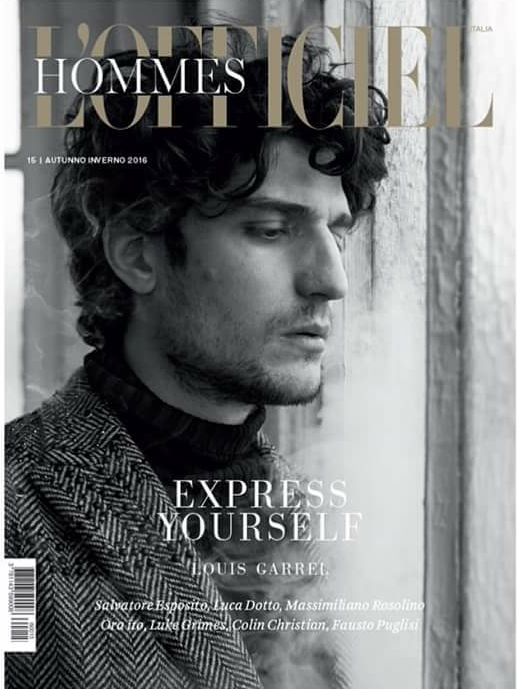 COVER - L'Officiel Hommes - FW 2016 - Louis Garrel in Valentino