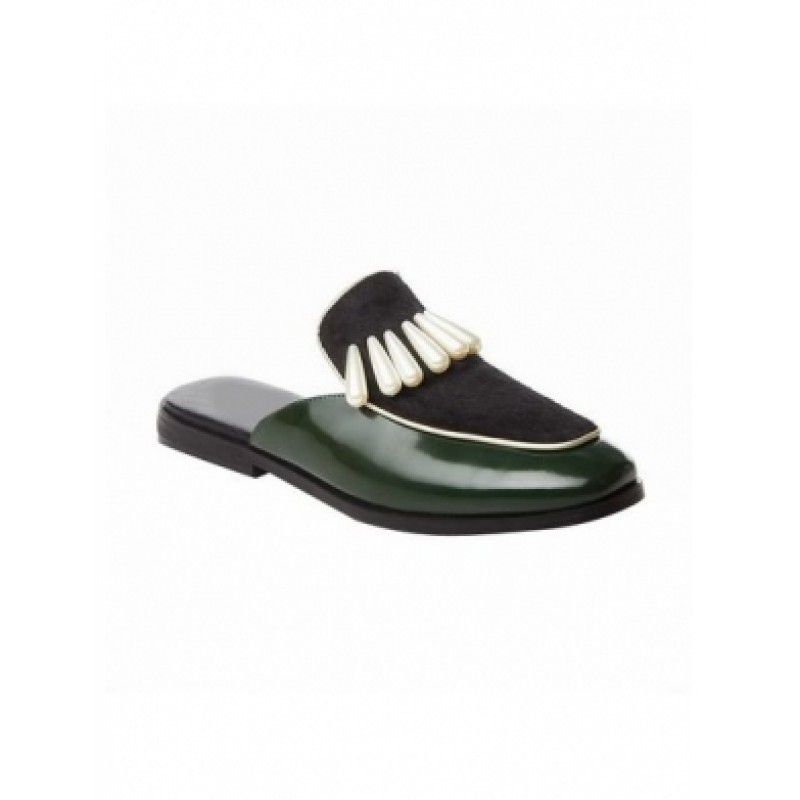 2-buy-street-style-shoes-lelan-pearl-embellished-mules-loafer-green-800x800
