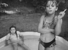 Little girls smoking