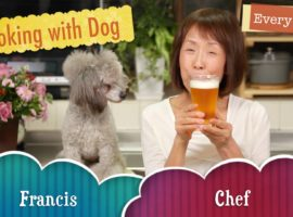 Cooking with dog