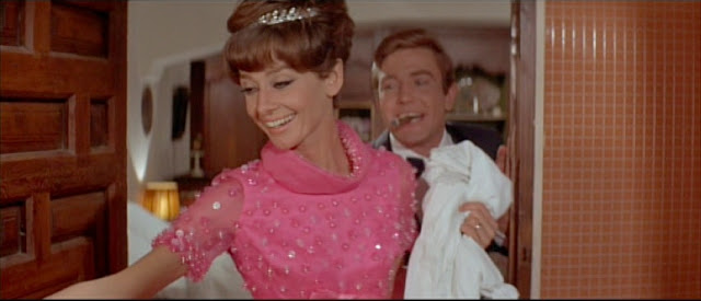 Audrey Hepburn + Two for the Road late pink gown 2