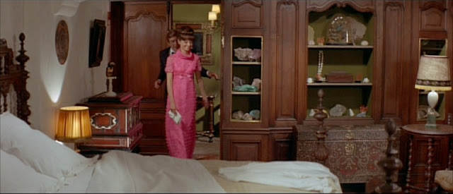Audrey Hepburn + Two for the Road late pink gown