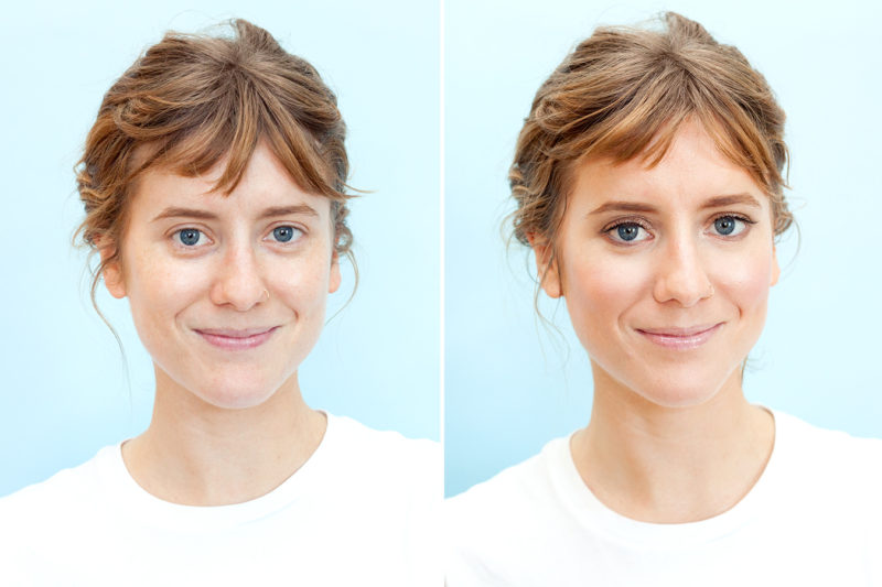 Before-After-Shiny-Highlighter-Faces-are-Trending-August-2017-Man-Repeller-1