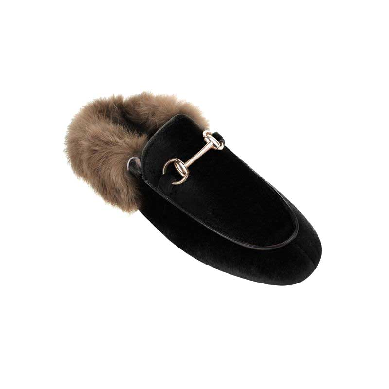 1-BUy-Jessica-Buurman-Street-Style-Shoes-DINAH-Velvet-And-Fur-Slippers-Black-800x800