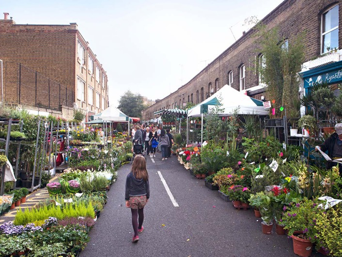 Columbia road flower & shops