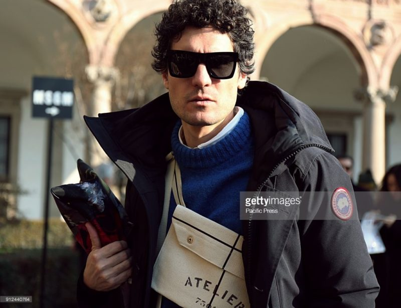 MILAN, ITALY - 2018/01/14: Alvaro de Juan on the street during the Milan Fashion Week. (Photo by Mauro Del Signore/Pacific Press/LightRocket via Getty Images)