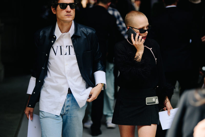 Couple wearing dark jackets