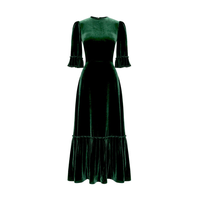 emerald-velvet-3quarter-festival-dress-new