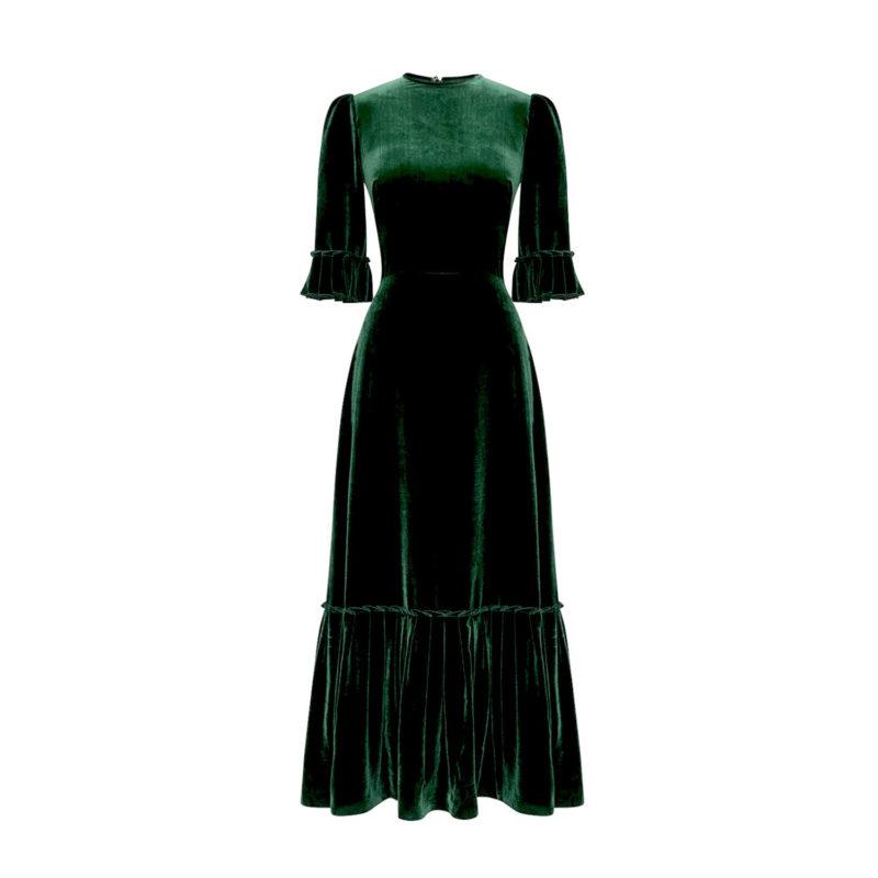 emerald-velvet-3quarter-festival-dress-new