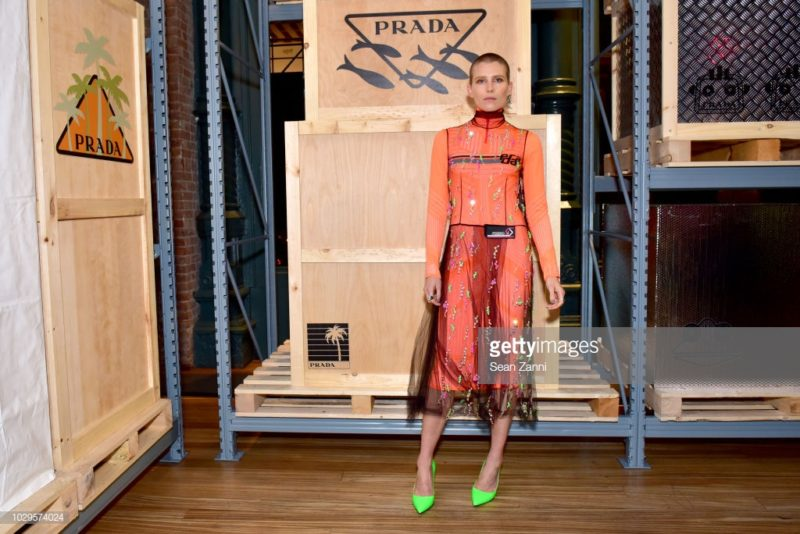 attends the Prada Linea Rossa event at Prada Broadway, NY on Sept. 8, 2018.