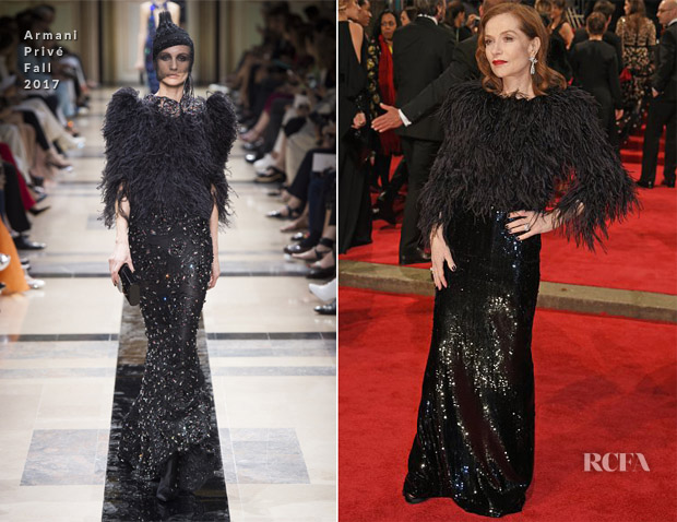 Isabelle-Huppert-In-Armani-Prive-Couture-2018-BAFTAs