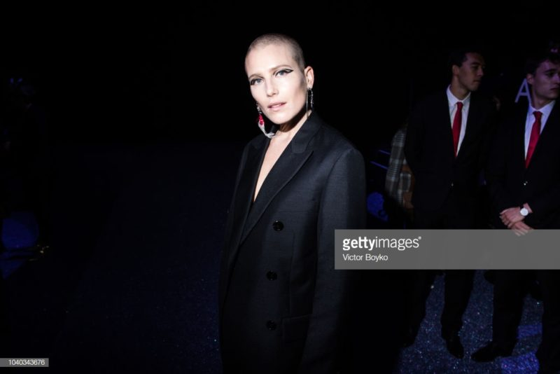 PARIS, FRANCE - SEPTEMBER 25: Dree Hemingway attends the ETAM show as part of the Paris Fashion Week Womenswear Spring/Summer 2019 on September 25, 2018 in Paris, France. (Photo by Victor Boyko/Getty Images)
