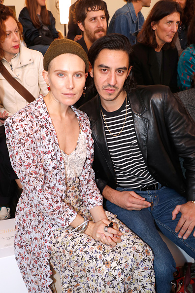PARIS, FRANCE - SEPTEMBER 27: Model Dree Hemingway and Ricky Saiz attend the Chloe show as part of the Paris Fashion Week Womenswear Spring/Summer 2019 on September 27, 2018 in Paris, France. (Photo by Bertrand Rindoff Petroff/Getty Images)