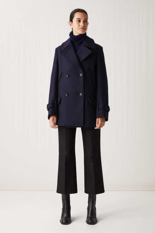 arket-Dark-Blue-Melton-Wool-Pea-Coat