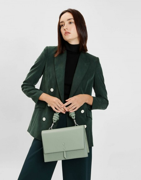 KNOTTED DETAIL HANDLE BAG charles and keith