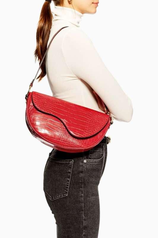 demi croc shoulder bag topshop