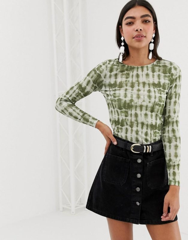 new-look-green-Top-In-Tie-Dye