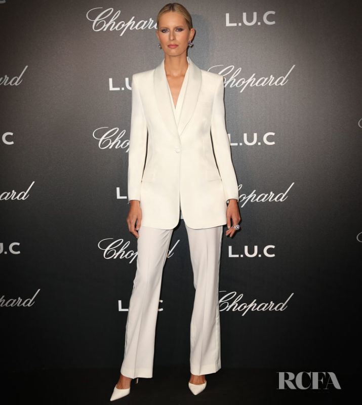Karolina Kurkova attends Chopard and Annabel's The Gentleman's Evening At The Hotel Martinez at Hotel Martinez on May 21, 2019 in Cannes, France.