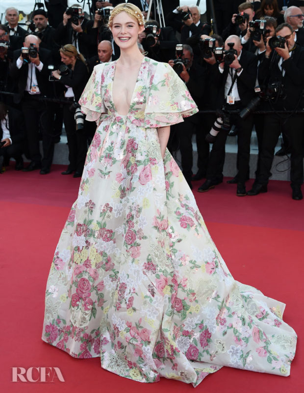 """CANNES, FRANCE - MAY 15: Elle Fanning attends the screening of """"Les Miserables"""" during the 72nd annual Cannes Film Festival on May 15, 2019 in Cannes, France. (Photo by Eamonn M. McCormack/Getty Images)"""