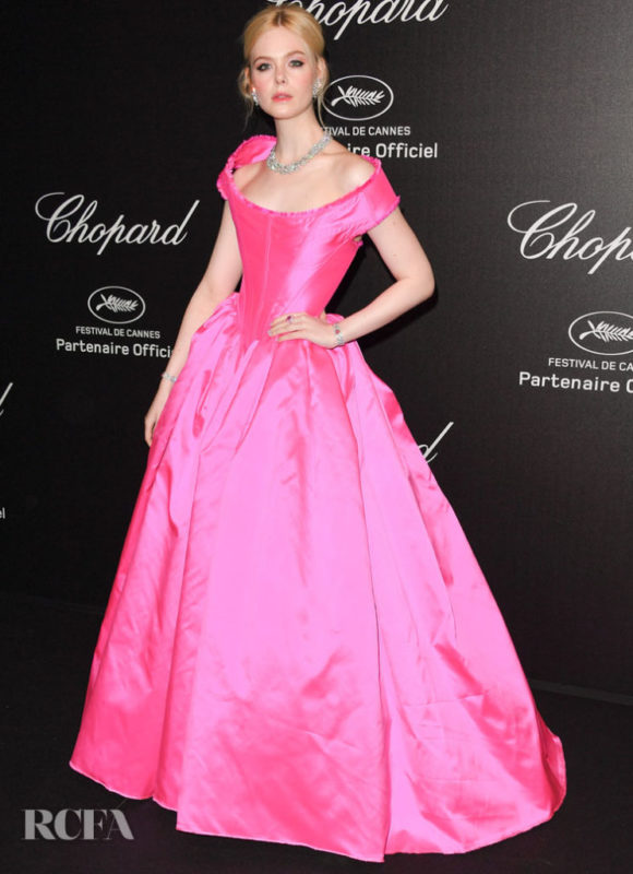CANNES, FRANCE - MAY 17: Elle Fanning attends the Chopard Party during the 72nd annual Cannes Film Festival on May 17, 2019 in Cannes, France. (Photo by George Pimentel/WireImage)