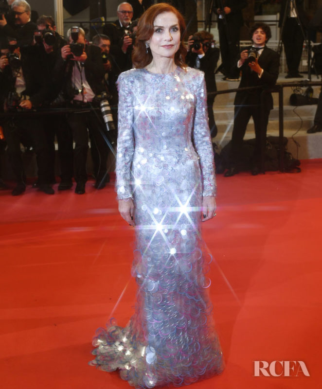 """CANNES, FRANCE - MAY 20: (EDITORS NOTE: Image has been created using a starburst filter.) Isabelle Huppert attends the screening of """"Frankie"""" during the 72nd annual Cannes Film Festival on May 20, 2019 in Cannes, France. (Photo by Gareth Cattermole/Getty Images)"""