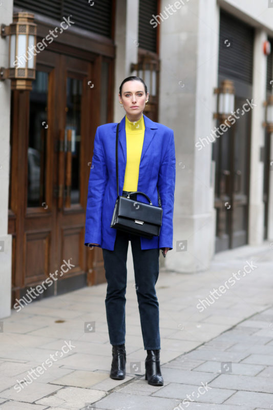 Mandatory Credit: Photo by Silvia Olsen/Shutterstock (9421820m) Flora Macdonald Johnston Street Style, Fall Winter 2018, London Fashion Week, UK - 18 Feb 2018