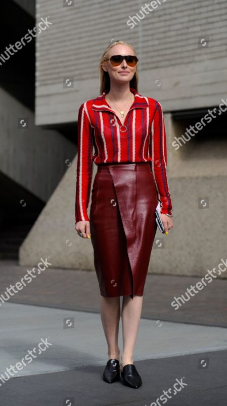 Mandatory Credit: Photo by Wayne Tippetts/Shutterstock (9884738a) Flora Macdonald Johnston, Financial Times fashion editor Street Style, Spring Summer 2019, London Fashion Week, UK - 16 Sep 2018