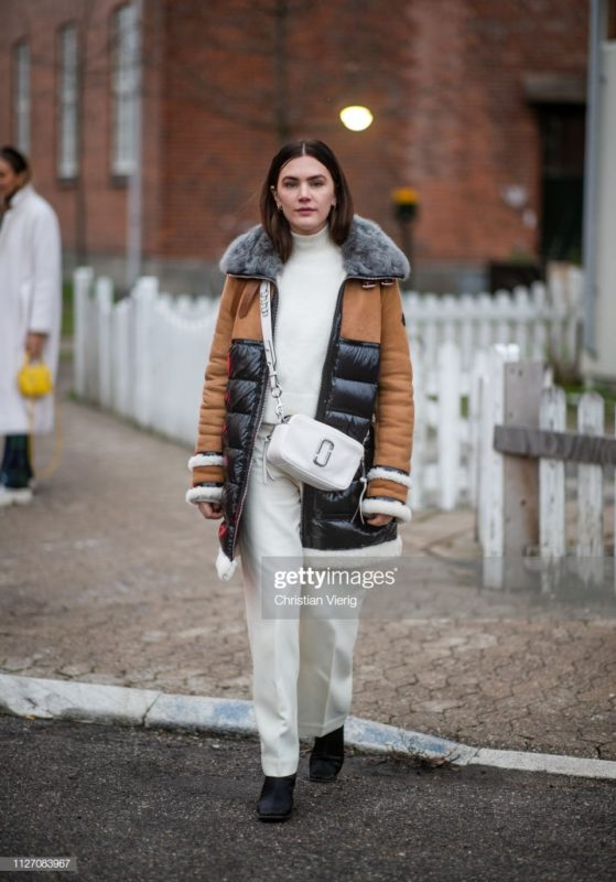 COPENHAGEN, DENMARK - JANUARY 31: Madelynn Furlong is seen outside Baum und Pferdgarten during the Copenhagen Fashion Week Autumn/Winter 2019 - Day 3 on January 31, 2019 in Copenhagen, Denmark. (Photo by Christian Vierig/Getty Images)
