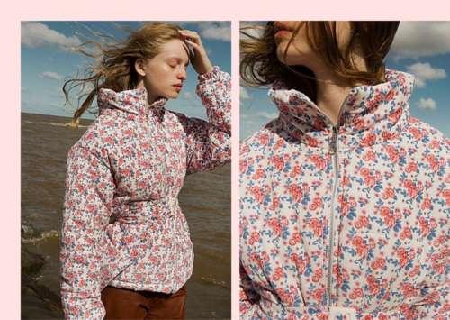 piumino tach clothing fiori
